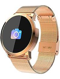 Loluka Unisex Fitness Tracker Digital Quarz Silikon Bluetooth Smart Watch für Android iOS mit Herzfrequenz Blutdruckmessgerät
