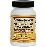 Healthy Origins, L'astaxanthine 12 mg, Triple Force, 60 Gélules