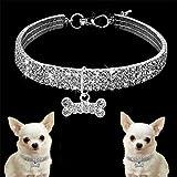 AKUKA Shining Hundehalsband, Diamanten Pet Halsbänder Sparkly Pet Halskette Supplies Hundegeschirre
