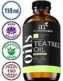 ArtNaturals Aceite esencial 100% puro de árbol de té - (4 fl oz/120 ml) - Melaleuca natural de grado terapéutico - ideal con jabón y champú, lavado facial y corporal - Tratamiento para acné, piojos