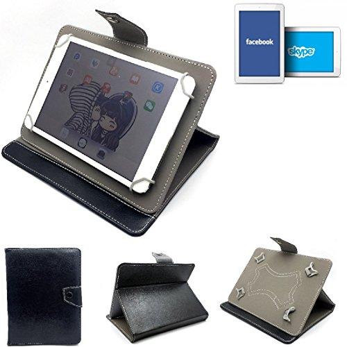 K-S-Trade Schutz Hülle Tablet Case für odys Junior Tab 8 Pro, schwarz. Tablet Hülle mit Standfunktion Ultra Slim Bookstyle Tasche Kunstleder