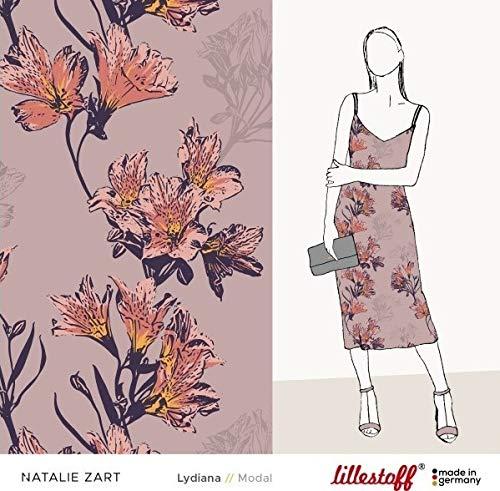 Lillestoff - Lydiana - Modal Sommer Altrosa Bio Magazin *** 50 cm x 150 cm *** - Stoff-magazin