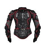 Misika Motorrad Fahrrad Protektoren Jacke Schutzkleidung Schutzjacke Schwarz/Rot M L XL XXL XXXL