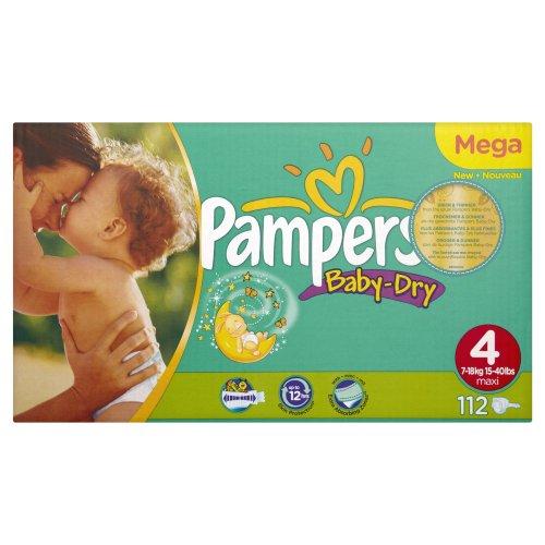 Preisvergleich Produktbild Pampers Windeln Baby Dry Gr.4 Maxi 7-18kg Megapack, 112 Stück