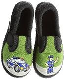 Kitz-Pichler Bobby Polizei Jungen Flache Hausschuhe, GrÃ1/4n (9611 grasgrÃ1/4n), 35 EU