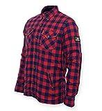 Bores Lumberjack, Jacken-Hemd, DuPont ™ Kevlar®, Reißfest, Wasserabweisend, Rot Schwarz Kariert, 7XL