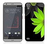 HTC Desire 530 Hülle Case, Fubaoda [Eine grüne Chrysantheme] Ultra Dünn Handyhülle Cover Soft Premium-TPU Durchsichtige Schutzhülle Backcover Slimcase für HTC Desire 530