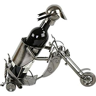Flaschenhalter Metall Motorradfahrer in Biker design bottle holder