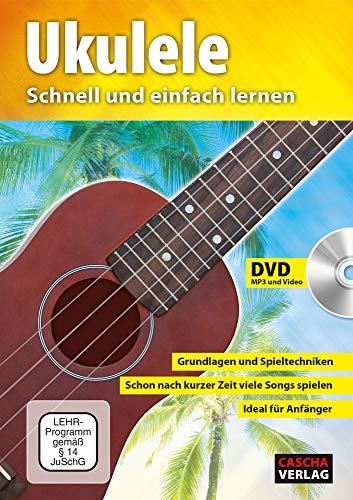 CASCHA HH 2036 DE Premium Mahagoni Konzert Ukulele Bundle mit Ukulelenschule, Stimmgerät, gepolsterter Tasche, 3 Picks und Aquila Qualitäts-Saiten - 3