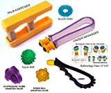 #8: Palm Hand Exerciser and Finger Massager FREE JOMMY, SUJOK BALL & ACUPRESSURE THUMB