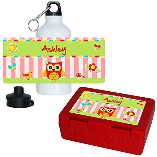 brotdose-trinkflasche-set-mit-namen-ashley-und-eulen-motiv-fur-madchen