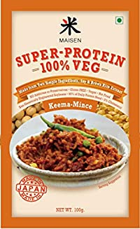 Maisen Super-Protein 100% Veg Mince-KEEMA 'Made from Two Simple Ingredients, Soy & Brown Rice Extract' -Made in Japan (Pack of 6)