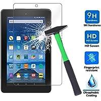 Fire 7 2017 / Fire 7 2015 Protector de Pantalla, Infiland Premium Protector de Pantalla de Vidrio Templado para Amazon Fire 7 Tablet (7th Generation - 2017 Release) / Fire 7 Tablet (5th Generation - 2015 release)(Tempered-Glass)
