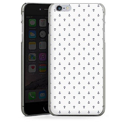 Apple iPhone X Silikon Hülle Case Schutzhülle Anker Muster Weiß Blau Hard Case anthrazit-klar