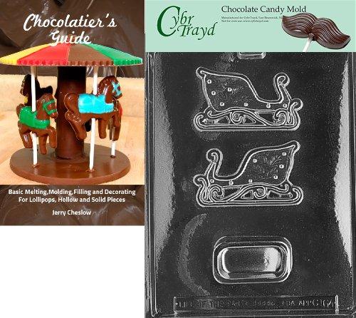 Cybrtrayd 'Kleine Schlitten Box' Weihnachten Chocolate Candy Form mit Chocolatier 's Guide