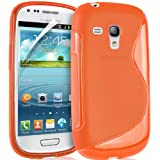 JAMMYLIZARD | S-Line Silikon Case Hülle für Samsung Galaxy S3 Mini, ORANGE