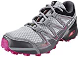 Salomon L39054600, Zapatillas de Trail Running para Mujer, Gris (Light Onix/Black/Deep Dalhia), 36 2/3 EU