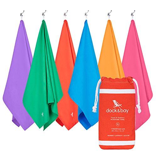 Mikrofaser Handtücher - Reise & Draußen (Rot - Extra Groß 200x90cm) - microfasertücher, Campingtuch, saugfähig