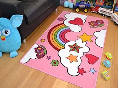 Kids Non Slip Machine Washable Rainbow Play Mat. Available in 2 Sizes - low-cost UK light shop.