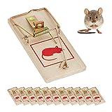 Relaxdays Pack de 12 Trampas Ratas
