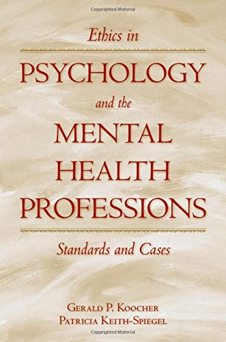 Best book Ethics in Psychology and the Mental Health Professions