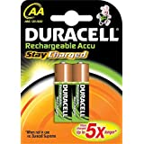 DURACELL Lot de 3 piles rechargeables StayCharged AA, blister de 2