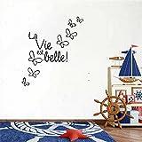 Wandaufkleber Schlafzimmer Vinyl Wall Art Inspirational Quotes And Saying Home Decor Decal Sticker La Vie Est Belle!