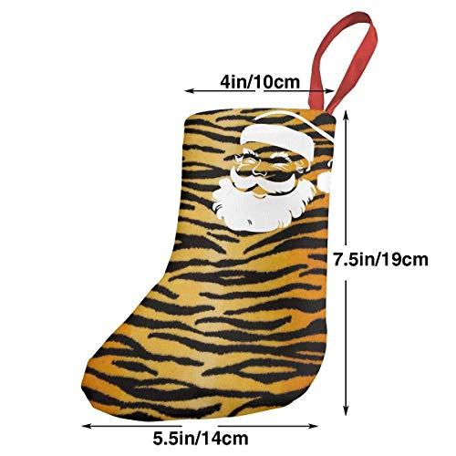 Tiger Black Gold Christmas Stockings Santa Xmas Decorations Gift Holding Home Decors Tree Ornament ()