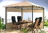 Quick-Star 2 Seitenteile für Gartenpavillon Antik Pavillon Partyzelt 3x3m Seitenwand Sand
