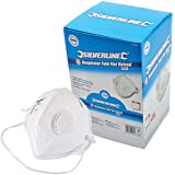 Silverline 633895 Respirator Fold Flat Valved FFP3 NR Display Box - Pack of 25
