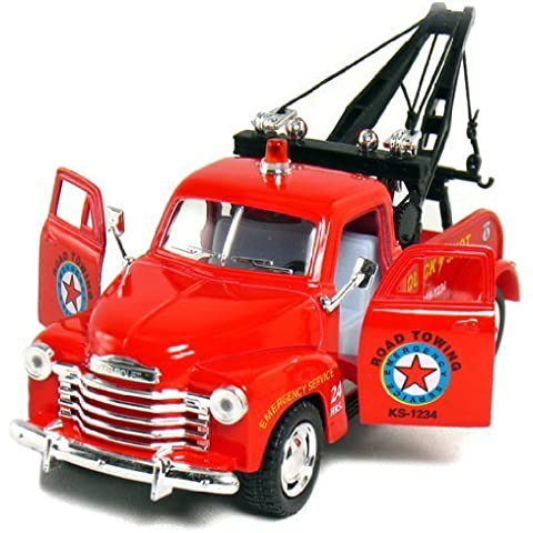 1953 5 Red Chevy 3100 Tow Truck 1:38 Scale (Kinsmart) by Chevy
