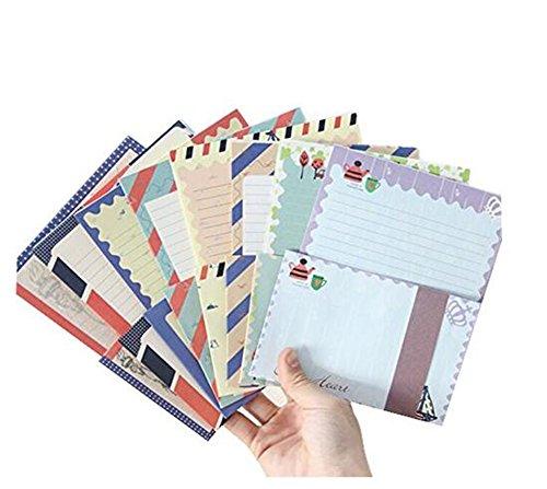 32 sortierte Farbe Spezielles Design Schreiben Briefpapier Papier & 16 Umschlag, Brief Schreiben Papier Brief Sets