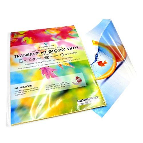 Paquete 20 hojas A4 vinilo adhesivo imprimible, acabado