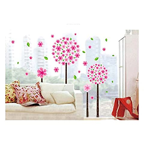 Home Decorative Mural Vinyl Wall Sticker Beautiful Pandora Tree Pink Kids Nursery Wall Art Decal