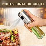 Oil Sprayer Pot, Junnom Stainless Steel Olive Mister Oil Spray Pump Fine Bottle Cooking Roast Bake Oil Bottle Tools for Pasta, Salads, Frying Pans, Grills and Barbecues