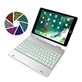 ElementDigital iPad 9.7 Keyboard Case Bluetooth Wireless Keyboard Cover with Backlit for iPad
