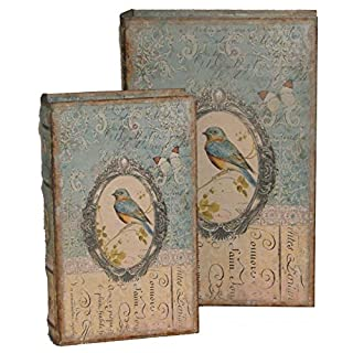 Antic Line - Set of 2 boxes with bird decor