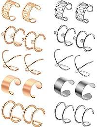 10 Paar Edelstahl Ohr Manschette Helix Knorpel Clip auf Ohrringe nicht Piercing Knorpel Ohrringe für Damen Mädchen Lieferungen, 5 Stile