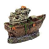 Bobury Aquarium Verzierung Piraten versenktes Schiff Schiffswrack Boots Fisch Behälter Waterscape Höhlen Dekoration