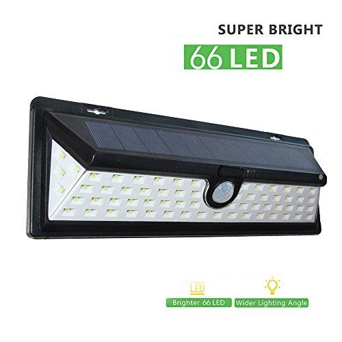 Solar Powered Motion Sensor exterior Light, litom 60 LED Outdoor lámpara de pared, impermeable Seguridad...