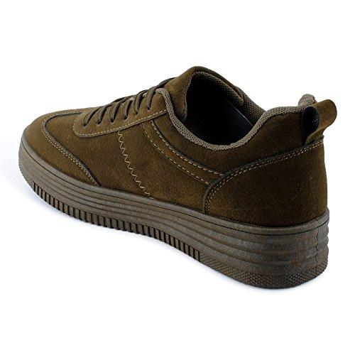 Damen Sportschuhe Low Top Sneaker Einfarbig Lauf Freizeit Schuhe Dunkelgrün