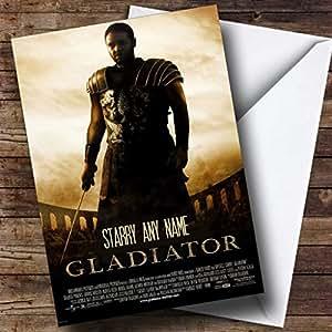 Carte d'anniversaire personnalisée faux Gladiateur Film Movie Poster