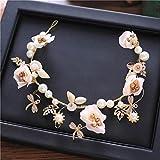 Guirnalda de novia guirnalda tocado corona de flores accesorios para el cabello banda para el cabello vestido de novia accesorios