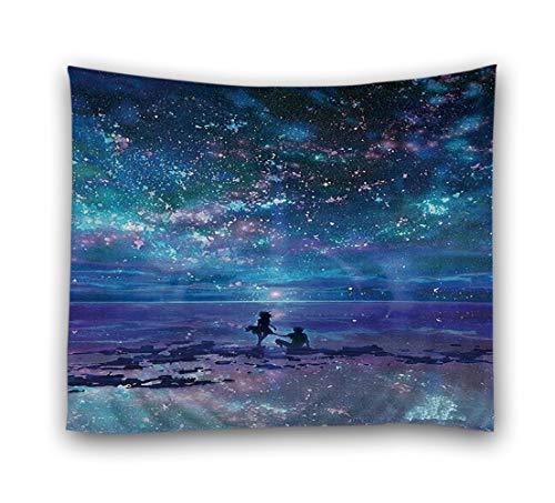 JMAHM Starry Tapestries Tapiz Cosmic Tapiz Colgante de Pared Tapiz Tela de Poliéster Accesorios para el Hogar, Colorful - Sea, 78.74 x 59.06