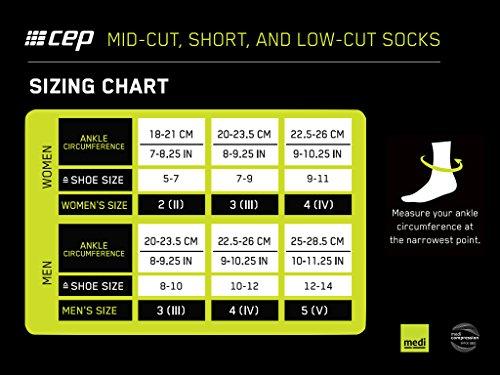 CEP Herren Kompressionsbekleidung Dynamic Short Socks, grün, IV, WP5BZ0