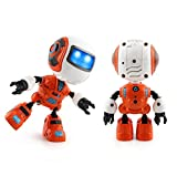 Xshuai 2017 Sensing Touch multifunktions Musik Smart Mini Alloy Roboter mit LED Kinder Spielzeug Geschenk (Orange)
