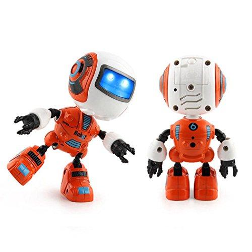 Xshuai 2017 Sensing Touch multifunktions Musik Smart Mini Alloy Roboter mit LED Kinder Spielzeug Geschenk (Orange)