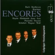 Encores: Bach, Beethoven, Bruckner, Haydn, Hindemith, Isaac, Ives, Piazolla, Puccini, Schubert, Wagner, Wolf