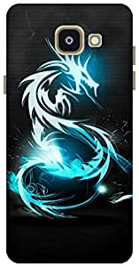 The Racoon Grip printed designer hard back mobile phone case cover for Samsung Galaxy A5 (2016). (Blue Drago)