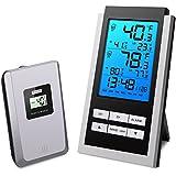 Oria Innen Außen Temperatur Monitor Thermometer mit Hintergrundbeleuchtung und Temperatur Alarm